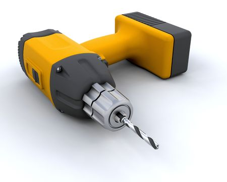 rennovation: 3D render of a power drill