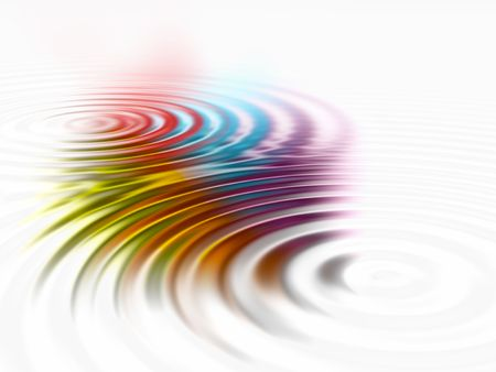 rippling: Abstract ripple background of rainbow colours Stock Photo