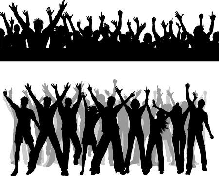 multitud: Dos escenas de multitud diferentes Vectores