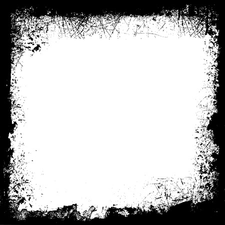 Detailed grunge border in black and white