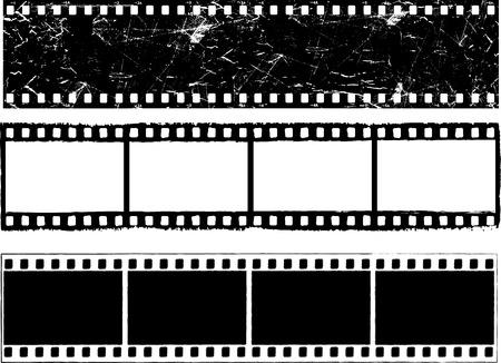 Verschiedene Designs des Grunge gestylt Filmstreifen