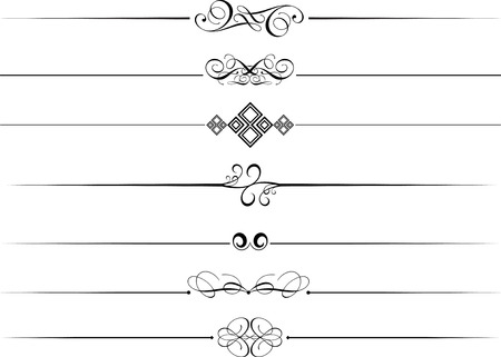 Decorative page dividers on a white background Stock Vector - 6233776