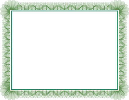 certificate: Blank guilloche style certificate with decorative border