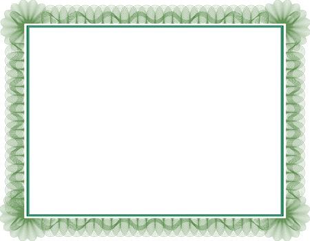 certificado: Certificado de estilo de garant�a en blanco con borde decorativo