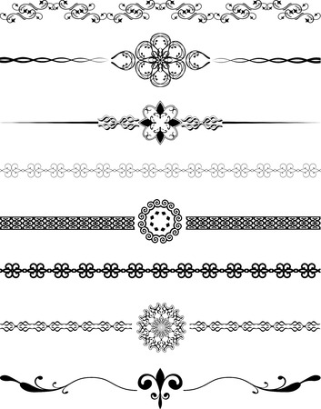Vaus different designs of decorative borders Stock Vector - 6281674