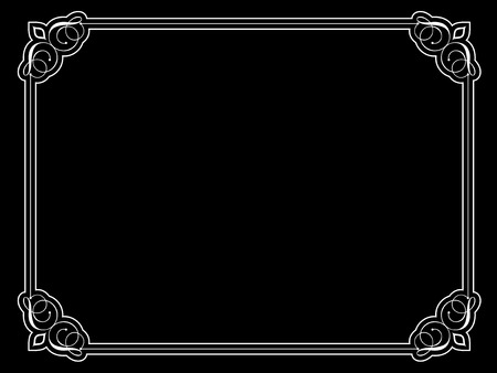 Decorative vintage style border on black background Stock Vector - 6537855