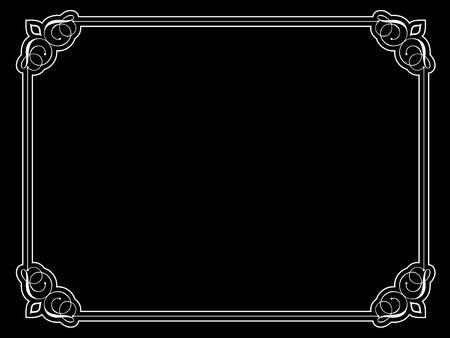 Decorative vintage style border on black background Stock Vector - 6537855