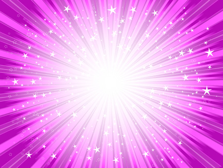 Starburst background in shades of PINK Stock Vector - 6537857