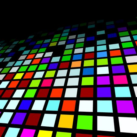 square shape: Brightly coloured abstract mosaic background Illustration