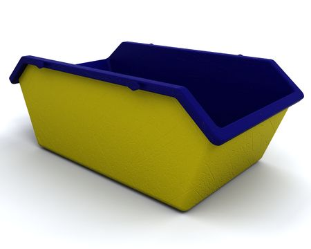 skip: 3D render of Refuse skip for consctruction industry Stock Photo