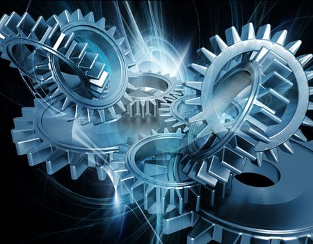 industrial machinery: Abstract gears background Stock Photo