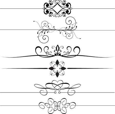 decorative line: Collection of decorative rules Illustration
