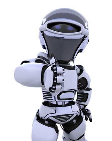 3D render of a robot Stock Photo - 6958792