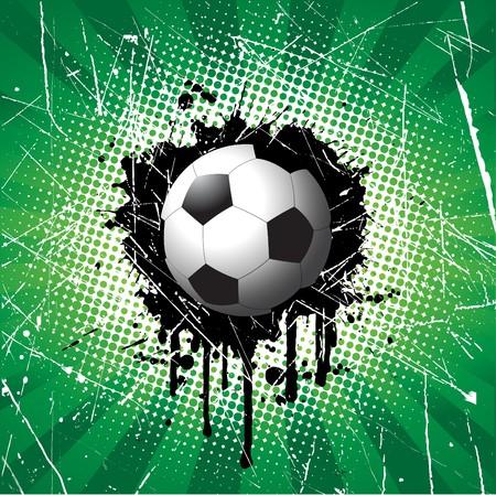 spat: Football on grunge style background