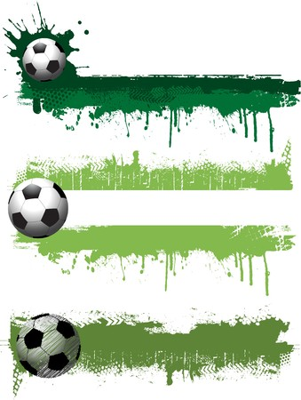 spat: Collection of three grunge style football banners Stock Photo