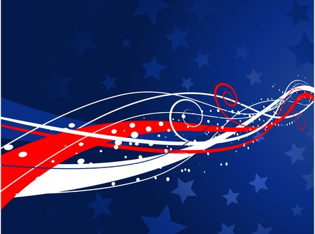Abstract patriotic background for fourth of July photo
