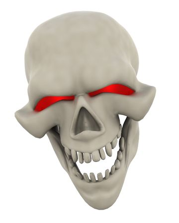3D Render of a Halloween Evil Skull Head Stock Photo - 7490234