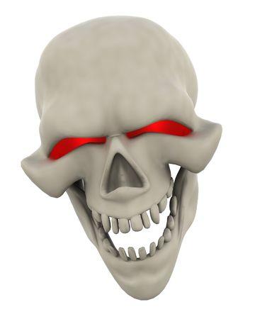 3D Render of a Halloween Evil Skull Head Stock Photo - 7490234