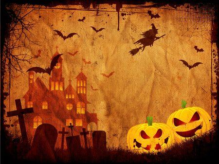Grunge style Halloween background photo