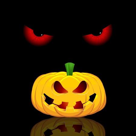 b�se augen: Halloween Hintergrund mit b�sen Augen und spooky Steckfassung o Laterne
