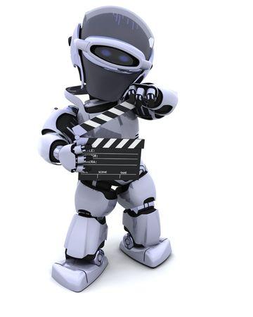 board of director: Il rendering 3D di un robot con Batacchio board Archivio Fotografico