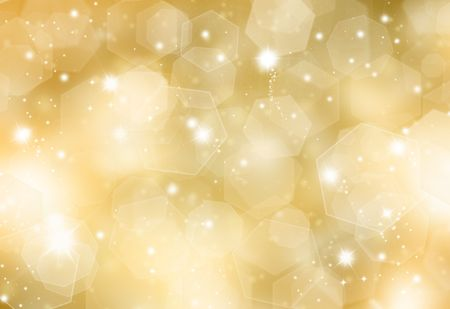 christmas lights background: Glittery gold Christmas background