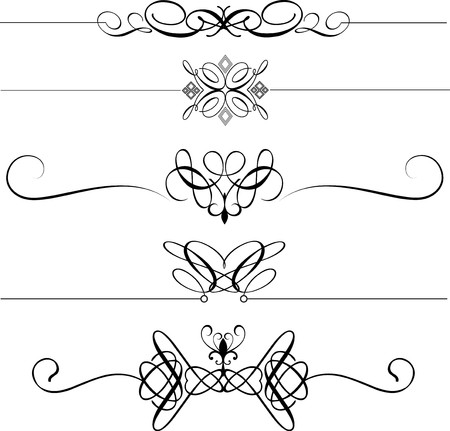 Collection of decorative page dividers photo