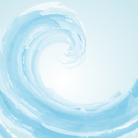 gush: Abstract wave background in watercolour effect