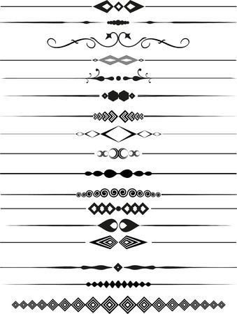 decorative lines: Collection of decorative page dividers