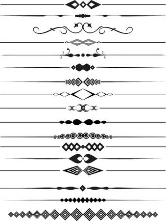 line in: Insieme di pagina decorativi divisori