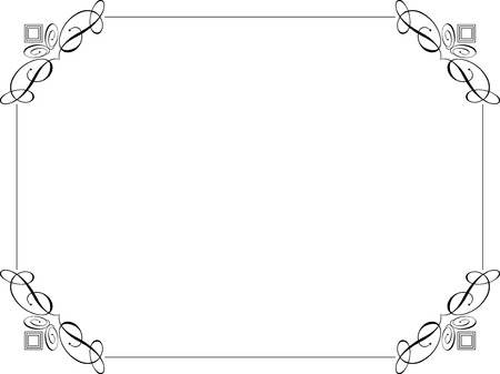 border line: Decorative border on a white background Illustration
