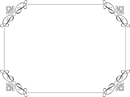 bordure de page: Fronti�re d�coratif sur un fond blanc