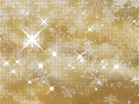 glittery: Glittery gold Christmas background in halftone dots Illustration