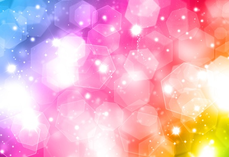 Colourful Christmas background with bokeh effect Stock Photo - 8228146