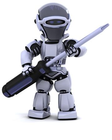 robot: 3D renderowanie robota