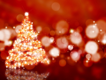 glittery: Sparkly Christmas tree on an abstract background