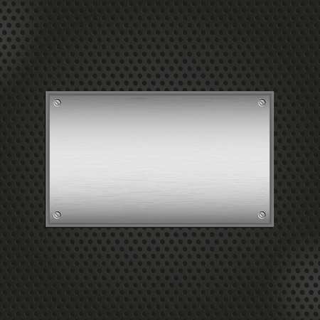 black metal background: Brushed metal texture on a perforated black background