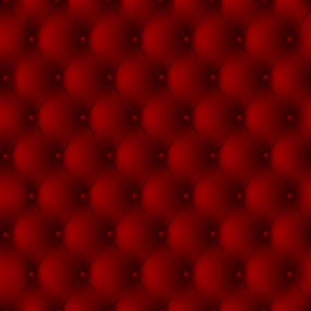 Luxury background of a red leather upholstery with buttons Vector