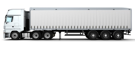 render 3d: 3D Render of a Cargo Delivery Vehicle