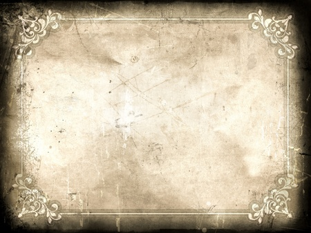Grunge certificate background with splats, stains and creases
