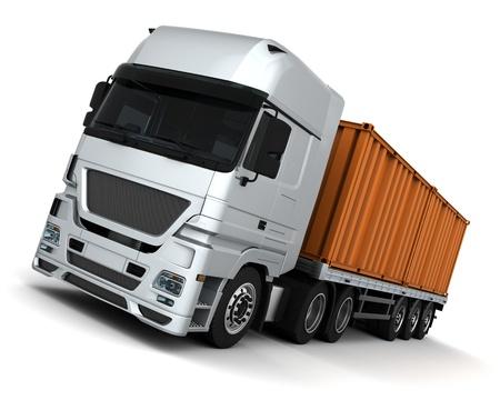 freight container: Render 3D de un contenedor veh�culos de entrega