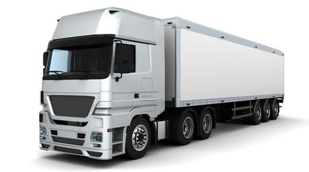 ciężarówka: 3D renderowanie dostawy Å'adunku pojazdu Zdjęcie Seryjne