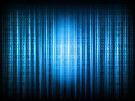 codigo binario: Fondo abstracto con c�digo binario en tonos de azul Foto de archivo