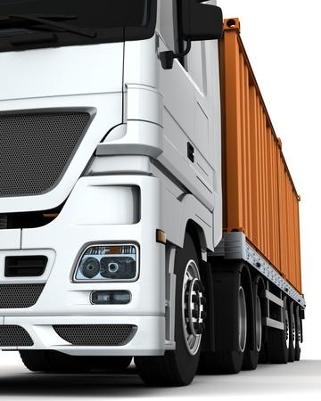 trailer: Render 3D de un contenedor veh�culos de entrega
