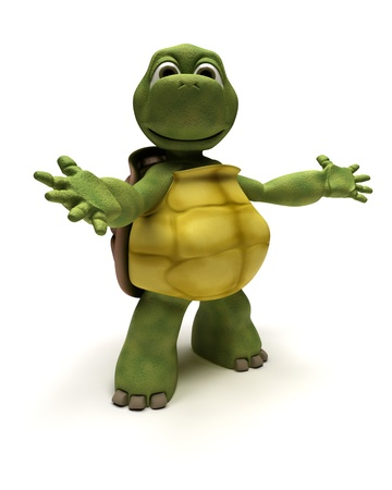 the reptile: 3D Render of a Tortoise in an introduction pose
