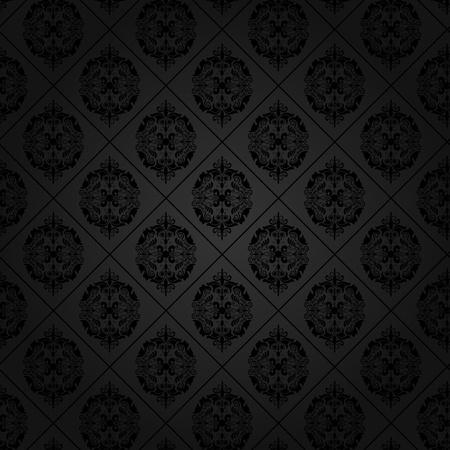 Seamless tile background of a damask style antique wallpaper photo