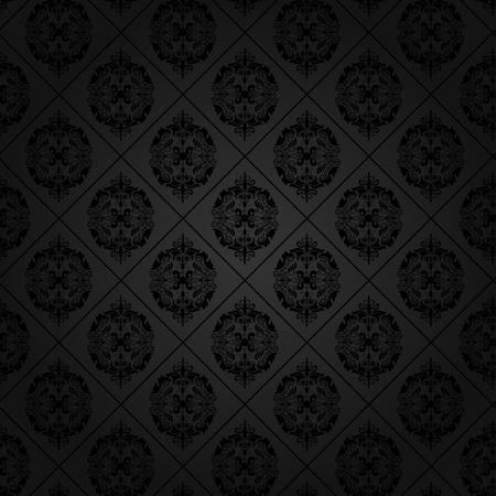 fleur de lis: Seamless tile background of a damask style antique wallpaper Stock Photo