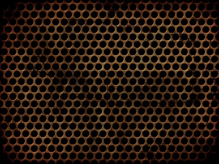 perforated metal: Abstract background with a grunge perforated metal effect Stock Photo