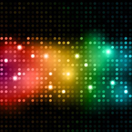 lumieres: Contexte abstrait de lumi�res multicolores