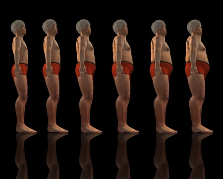 gaining: Image depicting the process of male gaining weight